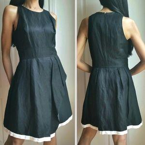 Banana Republic Faux Wrap Dress Black Size 8